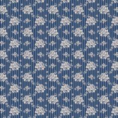Tilda Pardon My Garden Fabric Emily Dark Blue