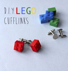 LEGO cufflinks for fathers day