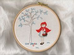 Little red riding hood - embroidery pattern by comfortstitching