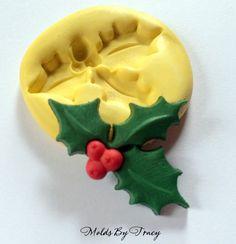 large holly silicone mold christmas silicone moldsjewelry moldscrafting moldspolymer