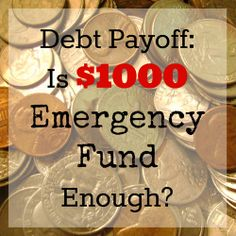 Household emergency funds: Is $1,000 enough? Why you may need more.