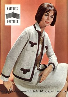 The Vintage Pattern Files  1960 s Knitting - Chanel Suit Lace Patterns 23a405ea2