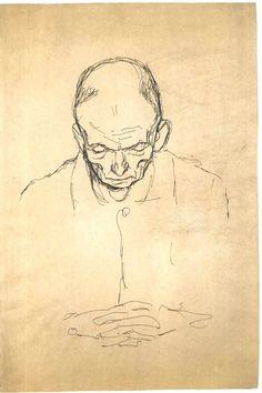 File:Klimt - Brustbild eines alten Mannes von vorne.jpg