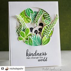 #Repost @nicholspohr with @repostapp ・・・ Peek a boo panda kindness card part of @thenewjulia birthday blog hop yesterday! (I was having…