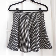 Polka dot miniskirt Fun polka dot miniskirt -- so cute, flouncy and twirly! Dresses