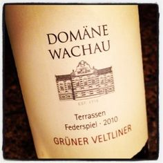 Domane Wachau Gruner Veltiner - white wine good for pairing with spicy foods (like Thai)