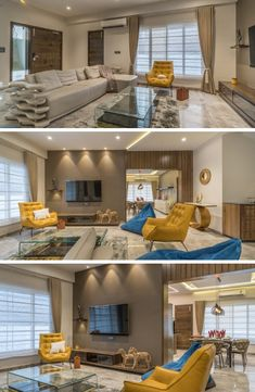 The House Exemplaire Living Room Table Sets, Living Room Themes, Living Room Designs, Living Rooms, Bedroom Designs, Modern House Design, Modern Interior Design, Interior Designing, Glass Kitchen Tables