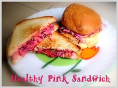Healthy Pink Beetroot Sandwich - love beetroot! #recipes
