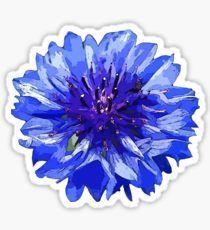 Blue Flower - Cornflower Sticker