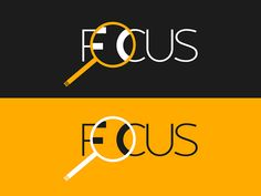 Clever Focus logo #magnifyingglass #typography #clevertype