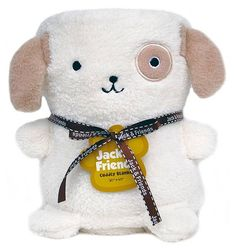 This plush blanket transforms into an adorable animal toy that's hypo-allergenic and free from stuffing -- ideal for babies, kids, and pets