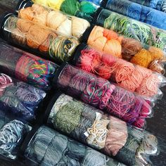 Wanted to share how I store scraps and left over yarn from projects and those gifted to me from generous knitters. Tennis ball containers, sorted by color. They are clear, unbreakable, you can pack a lot and insect proof