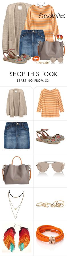 """Espadrilles"" by nicole-christie-mennen ❤ liked on Polyvore featuring Joie, Frame, Tabitha Simmons, Dooney & Bourke, Christian Dior, GUESS and de Grisogono"