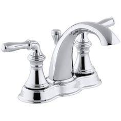 KOHLER Devonshire 4 in. Centerset 2-Handle Mid-Arc Bathroom Faucet in Polished Chrome-K-393-N4-CP - The Home Depot