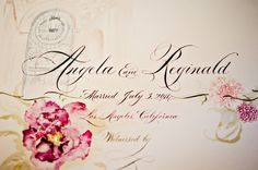 Beautiful watercolor wedding stationery! {B&G Photography}