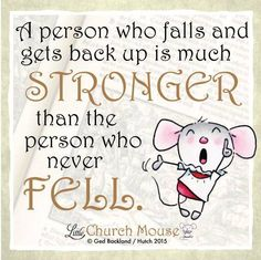 There is no shame in any struggle! #LittleChurchMouse