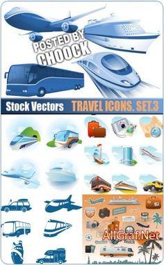 Иконки на тему путешествий. Вып.3 - векторный клипарт