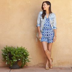 Rompers, the easiest one & done warm-weather look! Simply pair with sandals & a cropped jean jacket.