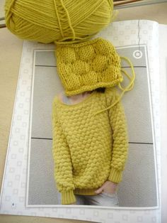 Pull point gaufré - La Malle aux Mille Mailles - Knitting And Crocheting Diy Crochet Sweater, Crochet Baby, Knit Crochet, Knitting Stitches, Knitting Designs, Sweater Scarf, Cardigan, Knitting Patterns, Dvd Fitness