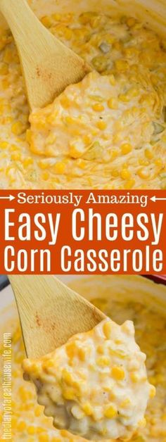 Cheesy Corn Casserole • The Diary of a Real Housewife Baked Creamed Corn Casserole, Corn Pudding Casserole, Creamy Corn Casserole, Corn Pudding Recipes, Easy Casserole Recipes, Ritz Crackers, Enchilada Sauce, Southern Comfort, Paula Deen
