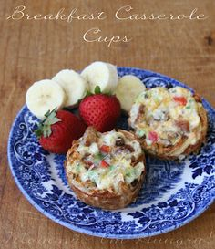 Breakfast Casserole Cups with egg whites and veggies inside little potato cups!!