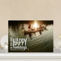 Show off your latest family adventure with 'Scripted Revelry' Flat #Holiday Photo Cards by Ann Kelle for Tiny Prints
