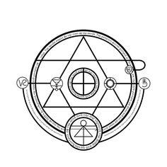 Alchemy Tutorial/Explanation: Human Transmutation by themrparticleman on DeviantArt Alchemy Symbols, Ancient Symbols, Ancient Art, M Symbol, Symbol Design, Demonology, Artist Portfolio, Magic Circle, Book Of Shadows