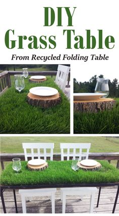 DIY Grass Table. This is so cool. I want to make one this spring.