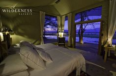 Ruckomechi Camp - Stunning views over the Zambezi from the room.  #Africa #Safari #Zimbabwe #WildernessSafaris