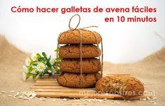 Cómo hacer galletas de avena fáciles en 10 minutos Avena Recipe, Bread Recipes, Cookie Recipes, Sin Gluten, Rice Krispies, Tiramisu, Caramel, Bakery, Food And Drink