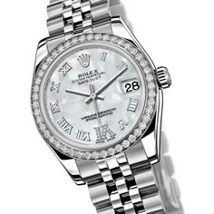 Rolex - Oyster Perpetual Datejust - Lunette sertie de 46 diamants - 178384 watch