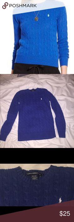 Ralph Lauren sport cable woven sweater Ralph Lauren sport cable woven sweater. Lightly worn. Slight discoloration on the arm. Hardly noticeable. 100% cotton Ralph Lauren Sweaters Crew & Scoop Necks