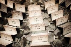 Elegant Ballroom Wedding Reception in Washington DC: Anna + Bryce Connor Studios Photography Escort Cards Meant To Be Calligraphy