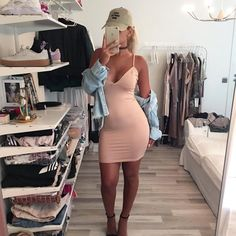 Imagen de girls, fashion, and outfit Casual Dresses, Casual Outfits, Cute Outfits, Fashion Outfits, Womens Fashion, Baddie Outfits Party, Sun Dresses, Dress Skirt, Dress Up