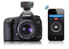 This Bluetooth Smart Trigger Turns Your iPhone Into A Canon DSLR Remote And Intervalometer. #photography #smartphone #tips