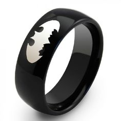 Personalized Black Engravable Tungsten Unisex Men's Ring Band