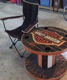 Wooden Spool Harley Davidson