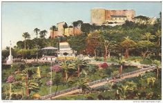 Oran 1930 Le Chateau Neuf et la promenade de Letang