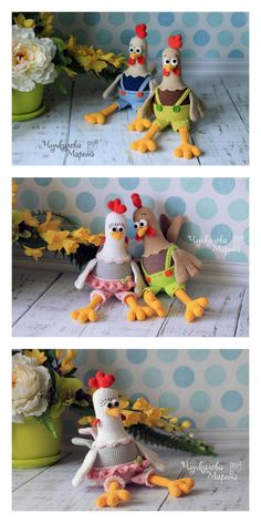 Amigurumi Chicken Free Pattern – Free Amigurumi Patterns Amigurumi Doll Pattern, Crochet Amigurumi Free Patterns, Crochet Animal Patterns, Stuffed Animal Patterns, Free Crochet, Amigurumi Toys, Free Knitting, Crochet Birds, Easter Crochet