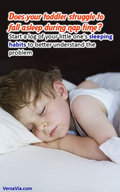 If you notice your toddler struggles to fall asleep either at nap time or bed time, start a log of their sleeping habits. Note what times they do fall asleep, how long they sleep and what activities they did before bed. This will help you form a better understanding of the problem. Some activities might help your toddler fall asleep while others keep them awake, for example.