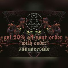 Enjoy our june sale coupon... get 20 % off your order with code: summersale   Just enter the code at checkout and enjoy your witchy treats. 🔮💙🔮