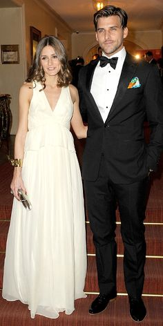 Olivia wore a cream Tibi gown to the Gala Spa Awards at Brenner's Park Hotel in Baden-Baden, Germany.