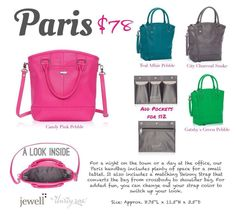 Paris Jewell By Thirty One New Collection Of Premium Faux Leather Purses Totes