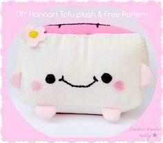 DIY: Hannari Tofu Plush + free pattern / Csináld magad + ingyen szabásminta