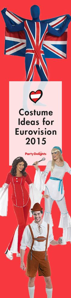 Complete your Eurovision party with these brilliant Eurovision fancy dress ideas - from Eurovisions legends to some of the funniest entries from recent years, you'll find them all amongst our Eurovision costume ideas.