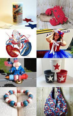 Stars and Stripes and Then Some - A Treasury of Patriotic Gifts from the Etsy #MaineTeam #July4th