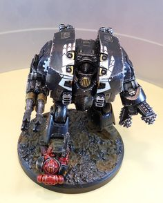 Iron Hands Leviathan Dreadnought by Andy U. Anika Rinner of The Horus Heresy Painting And Modelling Group