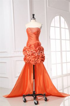 fancyflyingfox.com Offers High Quality Orange Strapless Taffeta High-low Cocktail Dresses,Priced At Only US$145.00 (Free Shipping)