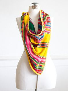 Triangle aztec scarf from Sol Del Sur on Etsy
