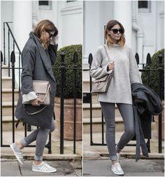 Adidas Gazelle cinza, modelo de tênis que é tendência nas fashionistas. Confira esses looks!
